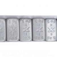 TRAX Standard – sivé železné samolepiace závažie 12x5g